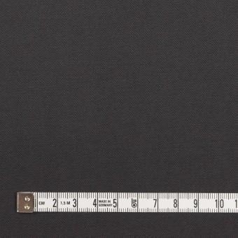 コットン×無地(チャコール)×ギャバジン_イタリア製 サムネイル4