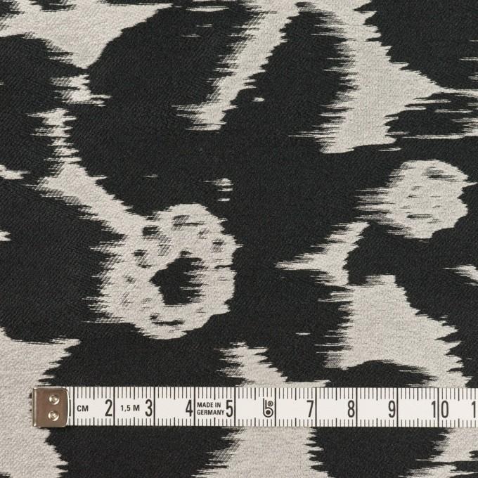 ポリエステル&ナイロン×フラワー(シルバー&ブラック)×形状記憶ジャガード_全2色 イメージ4
