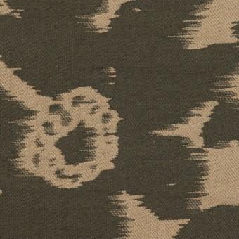 ポリエステル&ナイロン×フラワー(オークル&オリーブドラブ)×形状記憶ジャガード_全2色 サムネイル1