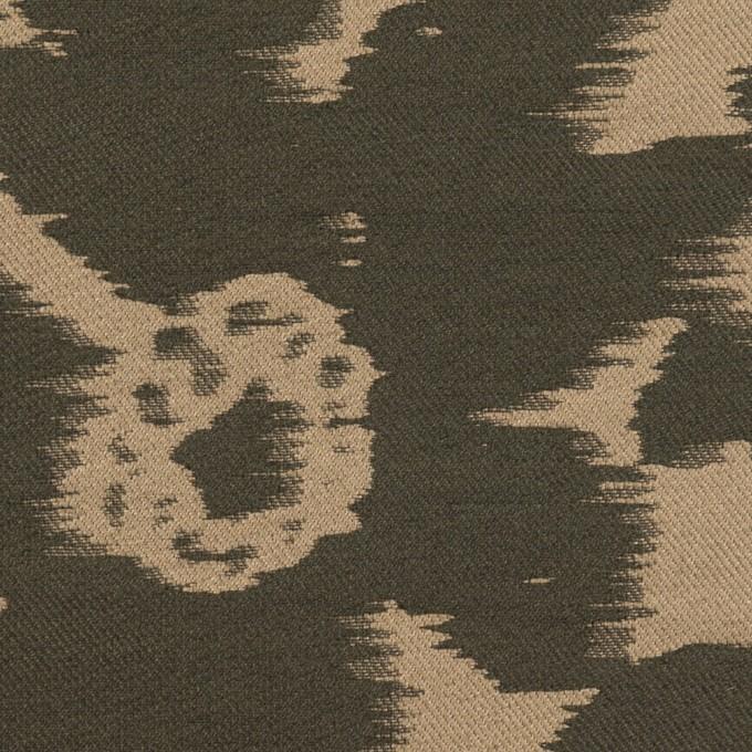 ポリエステル&ナイロン×フラワー(オークル&オリーブドラブ)×形状記憶ジャガード_全2色 イメージ1