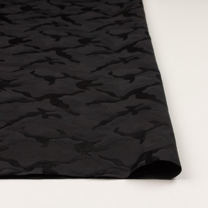 コットン&ナイロン×迷彩(ブラック)×ジャガード_全2色 イメージ3