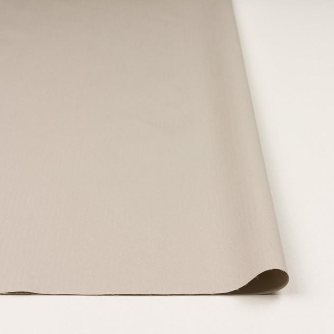コットン&ポリアミド混×無地(グレイッシュベージュ)×ヘリンボーン・ストレッチ_全2色_イタリア製 イメージ3