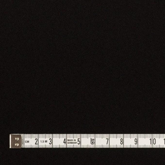 トリアセテート&ポリエステル×無地(ブラック)×バックサテンジョーゼット イメージ4