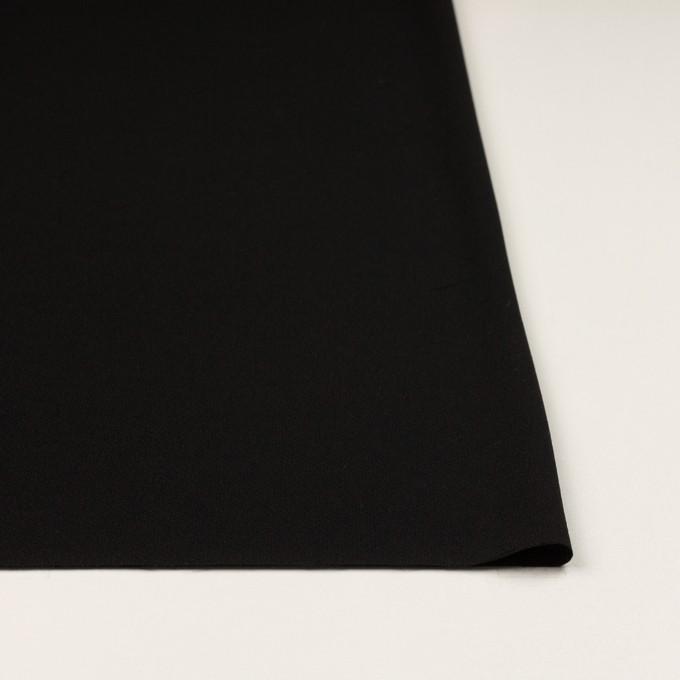 トリアセテート&ポリエステル×無地(ブラック)×バックサテンジョーゼット イメージ3