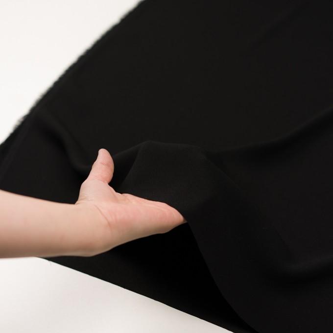 トリアセテート&ポリエステル×無地(ブラック)×バックサテンジョーゼット イメージ5