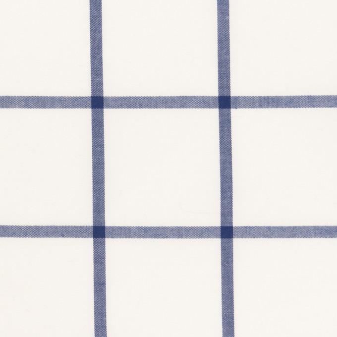 コットン×チェック(ブルー)×ローン イメージ1