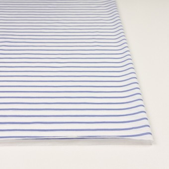 コットン×ボーダー(ホワイト&ヒヤシンスブルー)×天竺ニット_全2色 サムネイル3