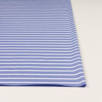 コットン×ボーダー(ヒヤシンスブルー&ホワイト)×天竺ニット_全2色 サムネイル3
