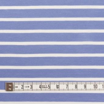 コットン×ボーダー(ヒヤシンスブルー&ホワイト)×天竺ニット_全2色 サムネイル4