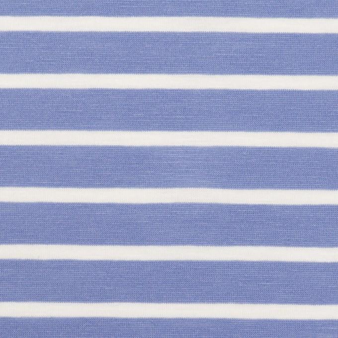 コットン×ボーダー(ヒヤシンスブルー&ホワイト)×天竺ニット_全2色 イメージ1