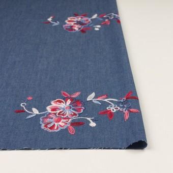 コットン×フラワー(アッシュブルー)×ダンガリー刺繍 サムネイル3