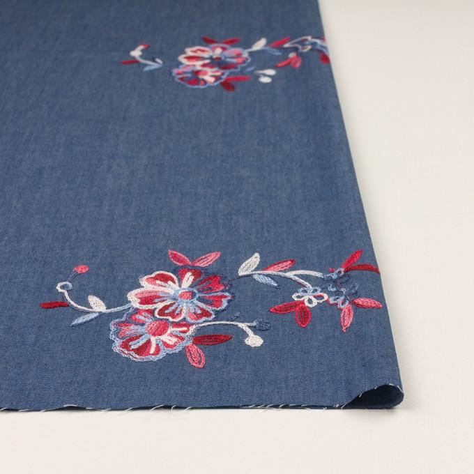 コットン×フラワー(アッシュブルー)×ダンガリー刺繍 イメージ3