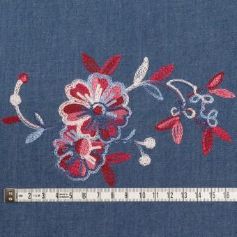 コットン×フラワー(アッシュブルー)×ダンガリー刺繍 サムネイル4