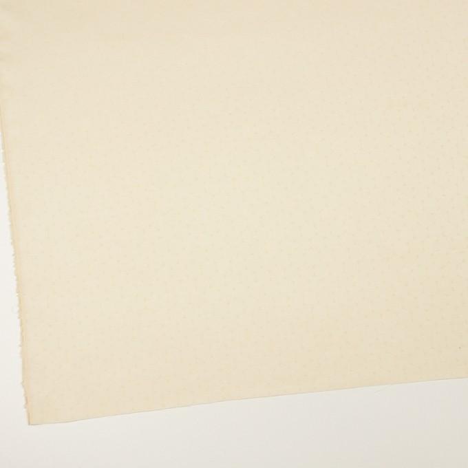 コットン&シルク混×サークル(クリーム)×サテンジャガード イメージ2