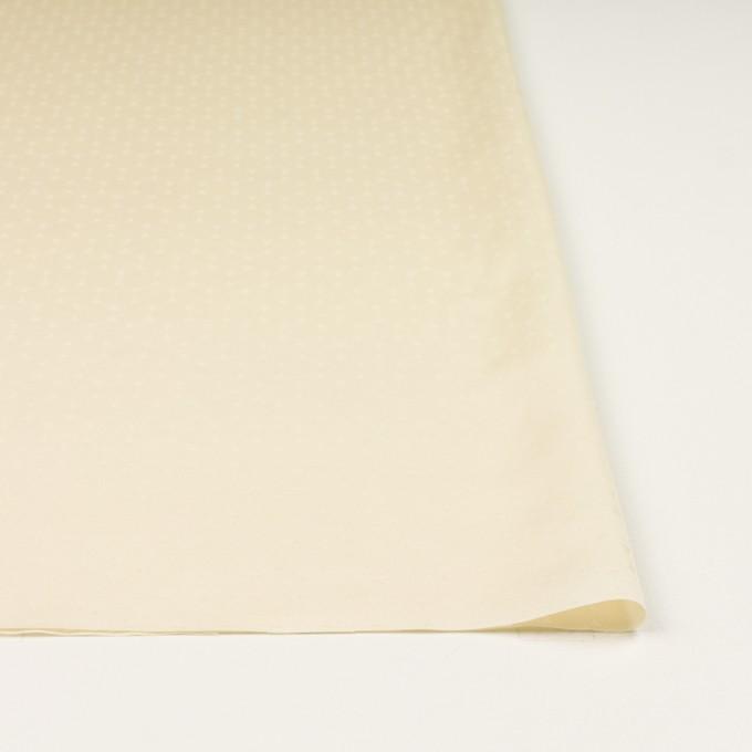コットン&シルク混×サークル(クリーム)×サテンジャガード イメージ3