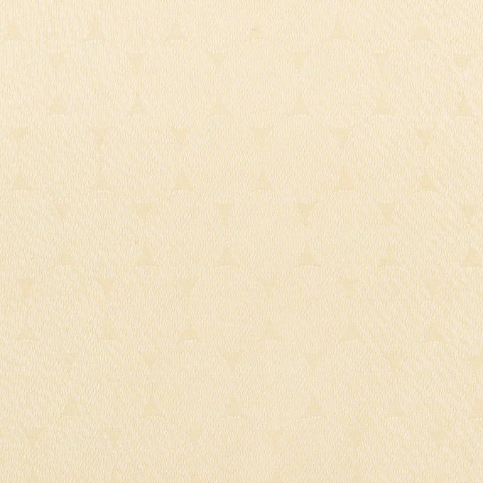 コットン&シルク混×サークル(クリーム)×サテンジャガード イメージ1