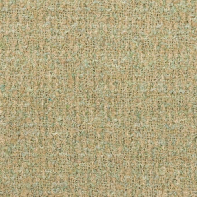ウール&ポリエステル×ミックス(ミントグリーン)×ファンシーツイード_全2色 イメージ1