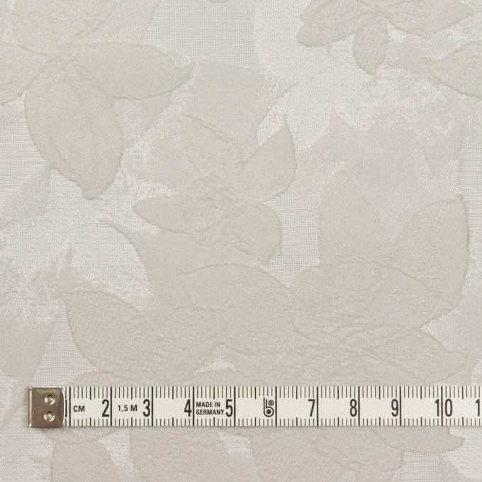 ポリエステル&ナイロン×フラワー(シルバー)×ジャガード イメージ4