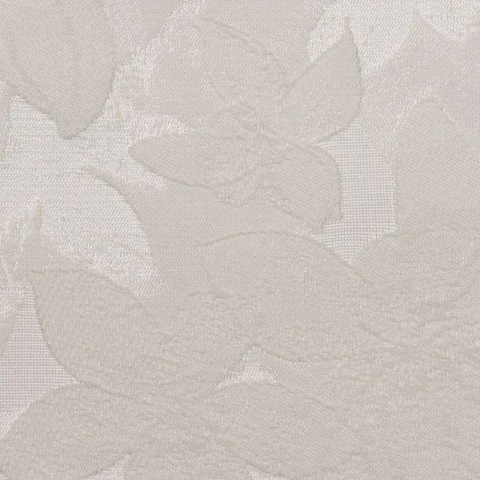 ポリエステル&ナイロン×フラワー(シルバー)×ジャガード イメージ1