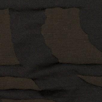 コットン&ポリエステル×幾何学模様(アッシュブラウン)×二重ジャガード_パネル サムネイル1