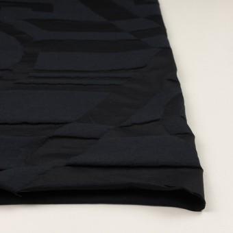 コットン&ポリエステル×幾何学模様(ダークネイビー)×二重ジャガード_パネル サムネイル3