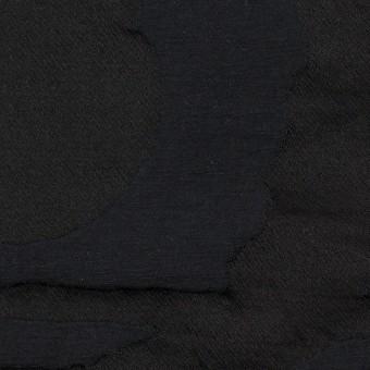 コットン&ポリエステル×幾何学模様(ダークネイビー)×二重ジャガード_パネル サムネイル1