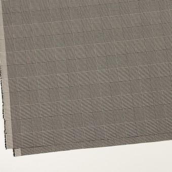 コットン&ポリエステル混×チェック(アイボリー&ブラック)×千鳥格子ストレッチ サムネイル2