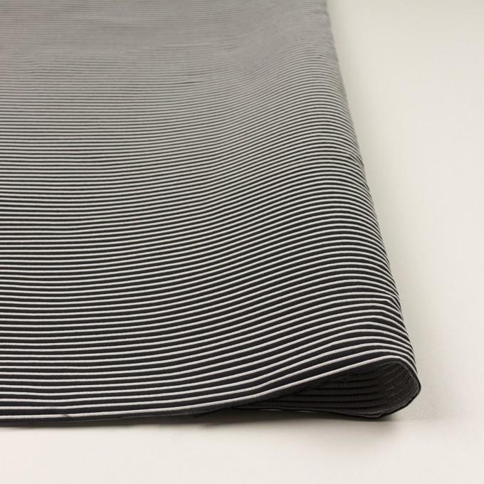 ポリエステル&アクリル×ボーダー(シルバー&ブラック)×二重ジャガード イメージ3