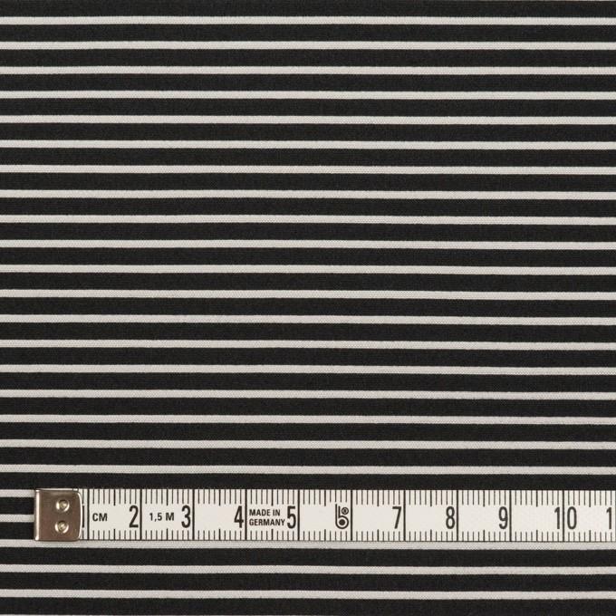 ポリエステル&アクリル×ボーダー(シルバー&ブラック)×二重ジャガード イメージ4