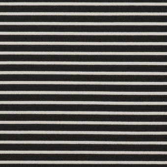 ポリエステル&アクリル×ボーダー(シルバー&ブラック)×二重ジャガード