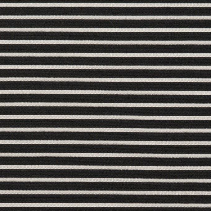 ポリエステル&アクリル×ボーダー(シルバー&ブラック)×二重ジャガード イメージ1