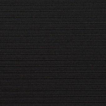 ポリエステル&アクリル×ボーダー(ブラック)×二重ジャガード