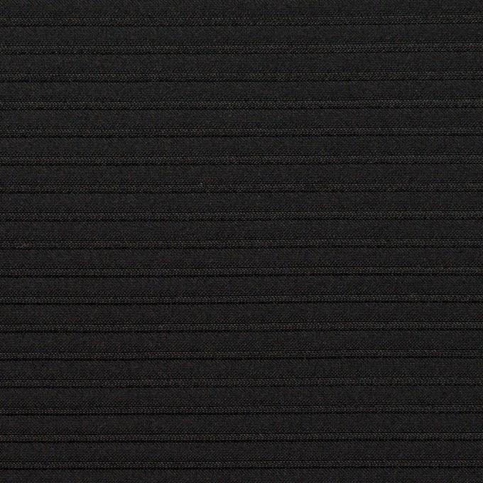 ポリエステル&アクリル×ボーダー(ブラック)×二重ジャガード イメージ1
