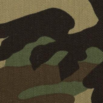 コットン×迷彩(カーキグリーンミックス)×カツラギ