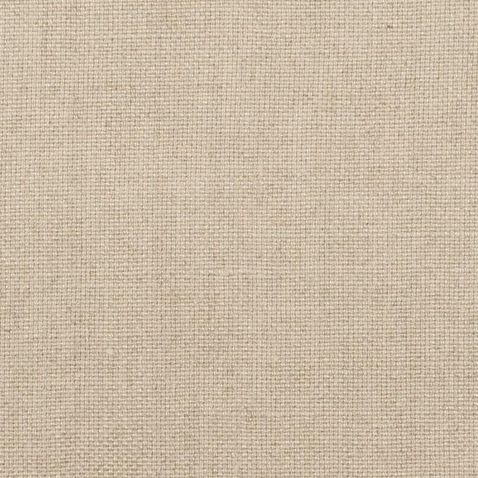 リネン×無地(グレイッシュベージュ)×オックスフォード イメージ1