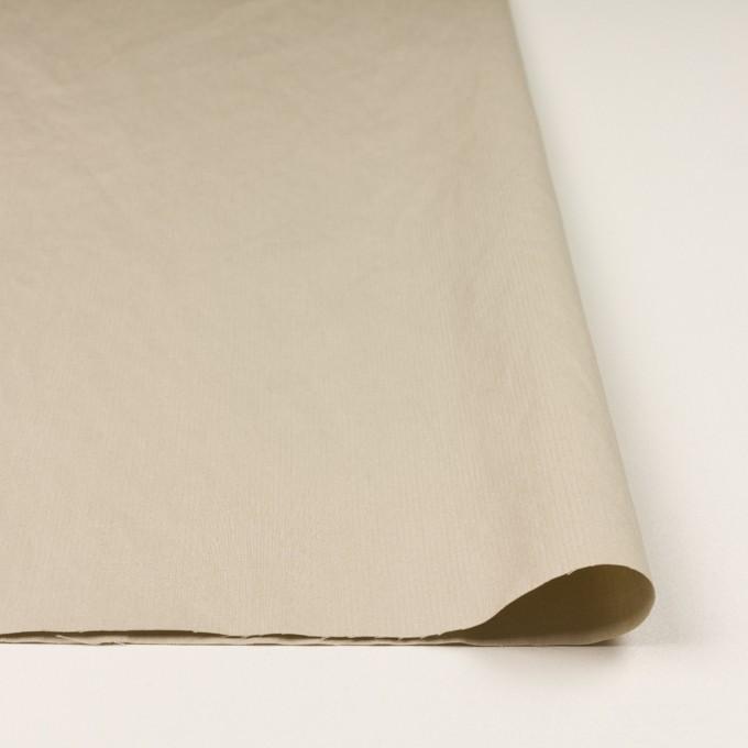 コットン×無地(サンドベージュ)×ヘリンボーン・ワッシャー_イタリア製 イメージ3