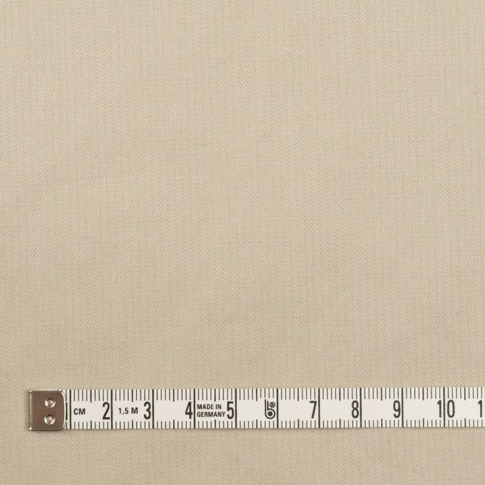 コットン×無地(サンドベージュ)×ヘリンボーン・ワッシャー_イタリア製 イメージ4