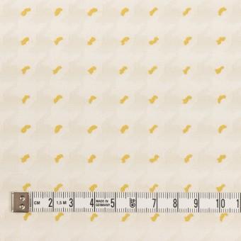 ポリエステル&コットン×千鳥格子(クリームイエロー&サンフラワー)×ジャガード サムネイル4