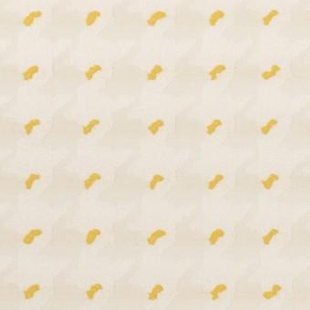 ポリエステル&コットン×千鳥格子(クリームイエロー&サンフラワー)×ジャガード サムネイル1