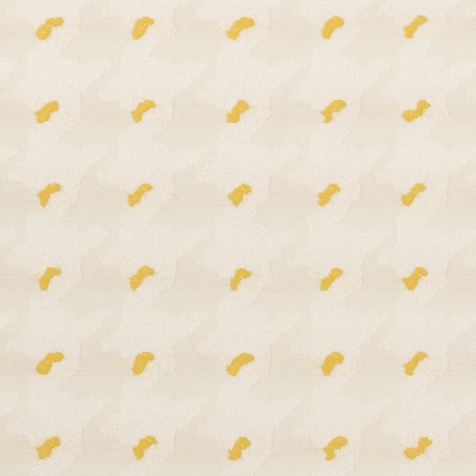 ポリエステル&コットン×千鳥格子(クリームイエロー&サンフラワー)×ジャガード イメージ1