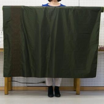 ポリエステル×レース(ディープグリーン&ブラウン)×形状記憶タフタ刺繍 サムネイル6