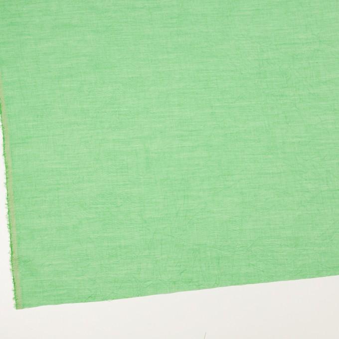 コットン&テンセル×無地(フレッシュグリーン)×ボイルワッシャー_全3色 イメージ2