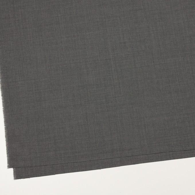 ウール&ポリウレタン×無地(チャコールグレー)×ポプリンストレッチ イメージ2