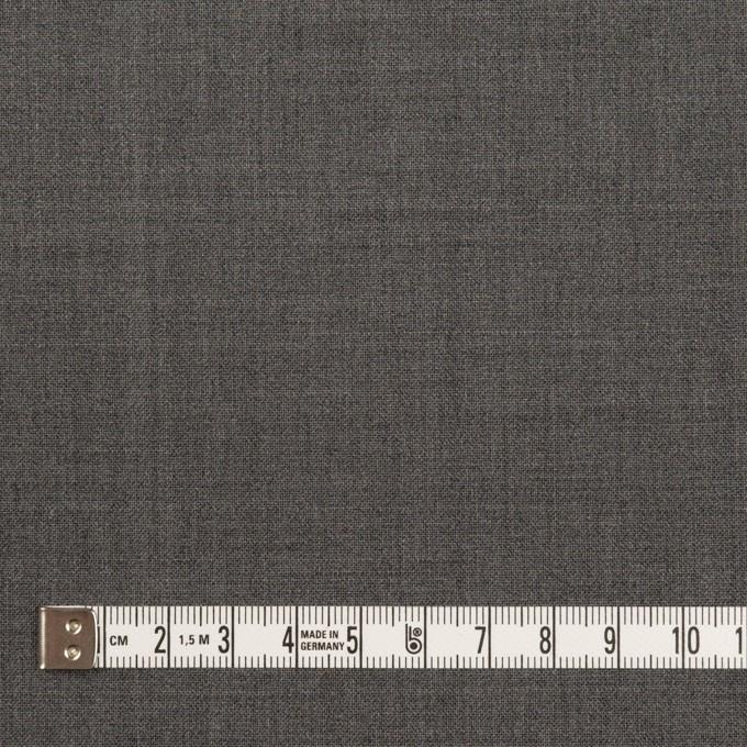 ウール&ポリウレタン×無地(チャコールグレー)×ポプリンストレッチ イメージ4