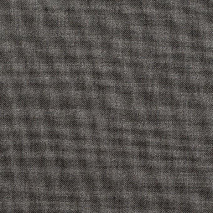 ウール&ポリウレタン×無地(チャコールグレー)×ポプリンストレッチ イメージ1