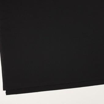 ウール&ポリウレタン×無地(ブラック)×ポプリンストレッチ サムネイル2