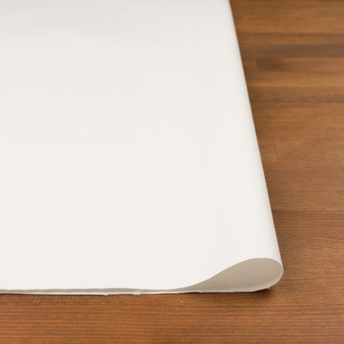 コットン&ポリウレタン×無地(オフホワイト)×カツラギストレッチ_イタリア製 イメージ3