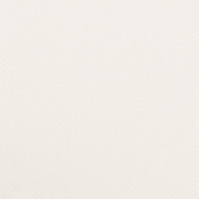 コットン&ポリウレタン×無地(オフホワイト)×カツラギストレッチ_イタリア製 イメージ1