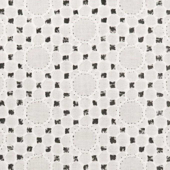 コットン×サークル(オフホワイト)×ローン刺繍_全3色 イメージ1