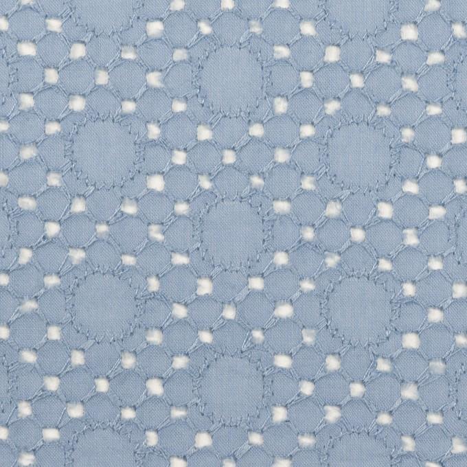 コットン×サークル(フロスティブルー)×ローン刺繍_全3色 イメージ1